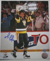 MARIO LEMIEUX / NHL HOF / AUTOGRAPHED 8X10 STANLEY CUP VICTORY PHOTO / REICH PM image 1