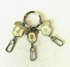 Mickey Mouse Keychain 3 Charms Faces Emotions Ring Clip Vintage Disney  - $17.77