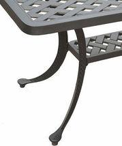 Nassau coffee table patio side outdoor cast aluminum backyard furniture image 3
