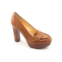 Marc Fisher Keeps Womens Size 9.5 Brown Leather Platforms Heels Shoes - $69.29