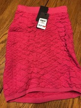 NEW GUESS JEANS textural stretch Pink high waist snake skin skirt SZ: XS - $26.17