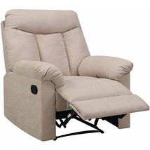 Khaki Recliner Chair Den Man Cave Living Room Furniture Polyester Microf... - $465.29