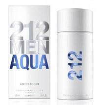 212 Men aqua cologne for men by Carolina Herrera 3.4OZ perfume 3.3oz - $84.98