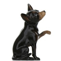Hagen Renaker Dog Chihuahua Sitting Black and Tan Ceramic Figurine image 1