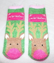 Lot 2 Pairs Bath & Body Works Reindeer Stop Tracks Infused Non skid Loun... - $17.92