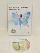 Adobe PhotoShop Elements 7 With Learn Digital Scrap Booking  - $24.70
