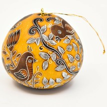 Handcrafted Carved Gourd Art Whimsical Whimsy Birds Ornament Made in Peru image 2