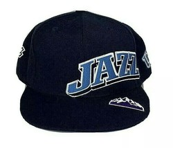 UTAH JAZZ NBA Reebok Elements Mens Blue Fitted Hat Embroidered Logo - £27.16 GBP
