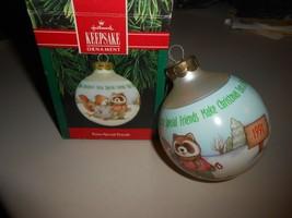 1991 Hallmark Extra Special Friends Glass Keepsake Ornament in Original Box - $2.97