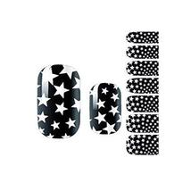 Set of 3 Nails Accessories Stars Pattern Black Style Nails Pasters for Girl