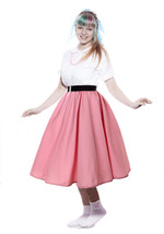 Pink Full Circle Skirt - 1950s Retro Swing Dance Peggy Sue by Hey Viv ! - $34.99