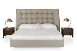 Modrest Codex Modern Grey Leatherette Bed - $1,782.00