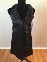 Eliza J Women's Dress Black Sleeveless Ruffled Sheath Size 4 New with Tags - $29.69