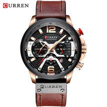 Wristwatch Mens CURREN 2019 Top Brand Luxury Sports Watch Men Fashion Le... - $40.10