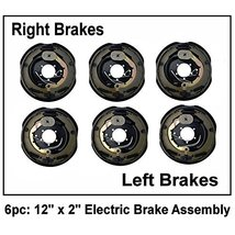 """6pc Electric Trailer Brake 12"""" x 2"""" Assembly Right & Left SIde 6000 7000... - $252.95"""