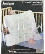 Janlynn Printed Cross Stitch Baby Shower Quilt Kit 118-06 New in Package... - $62.88