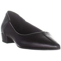 Nine West Fautif Pointed Toe Ballet Flats, Black Leather, 6.5 US - $29.75