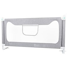 Toddler Bed Rail Guard,Foldable Safety Bed Guard with Vertical Lifting D... - $79.67