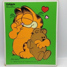 Vintage 1978 Playskool GARFIELD POOKY Wood Tray PUZZLE 320-1 Jim Davis C... - $7.76