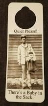 NOS Vintage 1990s Novelty Door Hanger Quiet Please - There's a Baby in t... - $8.95