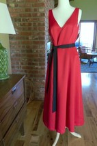 New ADRIANNA PAPELL Red SPECIAL OCCASION DRESS SIZE 8 NWT fit flare - $54.45