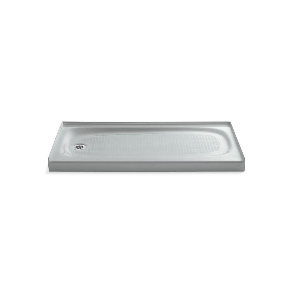 KOHLER Shower Base 60 in. x 30 in. Single Threshold Rectangle Ice Gray - $1,074.71