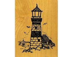 Vintage PSX 2000 Lighthouse Rubber Stamp #F-1145 image 1