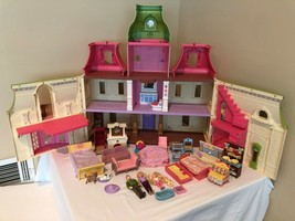 Fisher Price Loving Family Dream Dollhouse Mansion Lot 2012 Lights and S... - $174.99