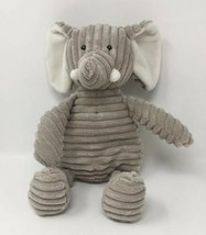 "Unipak Gray Elephant 14"" Plush Ribbed Corduroy Stuffed Animal Toy - $13.46"
