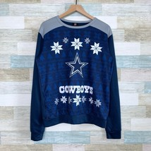 Team NFL Dallas Cowboys Christmas Snowflake Sweatshirt Blue Ugly Mens Me... - $34.64