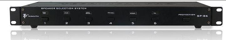 Technical Pro SP-B6 3000w 6 Speaker Selector