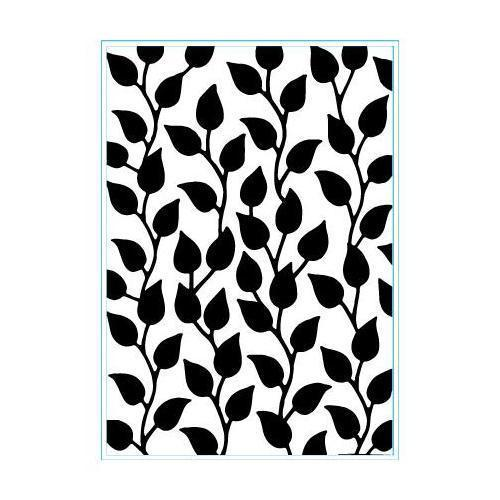 "Elizabeth Craft Embossing Folder Curvy Leaves 4""X6"" - 105"