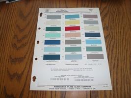 1958 Buick Ditzler PPG Color Chip Paint Sample - Vintage - $9.74