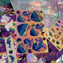 Lisa Frank Skeeter Seal Rainbow Reef Stationery & Stickers! Max Whale Dolphin image 10