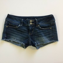 American Eagle Outfitters Womens Denim Jean Shorts Size 2 Cut Off Stretc... - $19.99