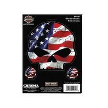 harley-davidson american flag willie g. skull logo car sticker decal mad... - $18.04
