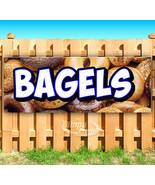 BAGELS Advertising Vinyl Banner Flag Sign Many Sizes CARNIVAL FOOD - $14.24+