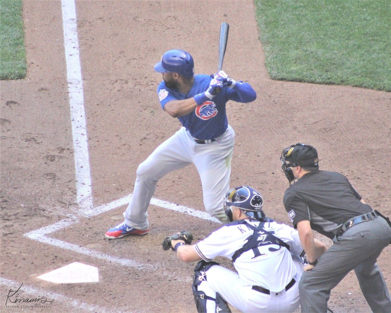 Primary image for Jason Heyward Chicago Cubs Original Action Pic J-Hey Var Sizes & Options 2018