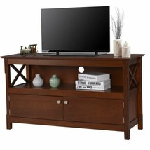 "Durable Brown Modern 44"" Wooden Storage Cabinet TV Stand - $176.69"