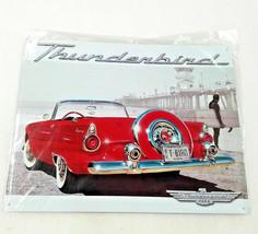 """16"""" Ford Thunderbird car on beach near pier T-BIRD vanity Auto Ad USA metal sign - $39.50"""