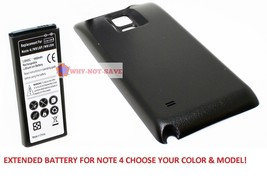 Extended Replacement Internal Battery with back cover for samsung galaxy Note 4 - $24.99