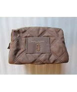 Marc Jacobs Cosmetic Bag Quilted Nylon Knot Large Pouch French Grey NEW - $69.30