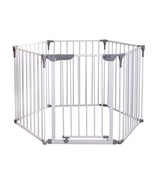Baby Gate 29 in. H 3-in-1 Play-Yard Self-Locking Wide Barrier Steel White - $135.19
