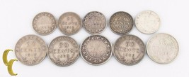 1882-1919 Canada Newfoundland Cents Lot (VG-VF, 10 coins) 20c 25c 50c Si... - $158.40