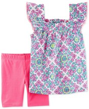 Carter's Baby Girls' 2-Piece Top & Shorts Set Outfit Playwear Floral Pin... - $14.24