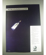 1991 AT&T Bell Laboratories Ad - We'd like to be the first to say hello - $14.99