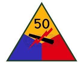 50th Armored Division Sticker Military Decal M376 - $1.45+