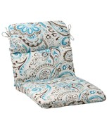 """CC Outdoor Living 40.5"""" Turquoise Gray Paisley Swirl Patio Round Chair C... - $77.95"""