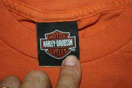 Harley Davidson Mens T-Shirt Orange Battlefield Harley Gettysburgh PA Size Small image 6