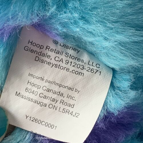"Monsters Inc. 12"" Sully Plush w/ Varsity Jacket Disney Store Genuine Original image 10"